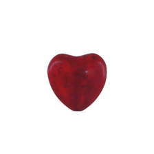 GEMSTONE BEADS HOWLITE – BEAD/CHARM RED HEART 18MM